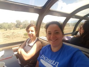 Fulbright MTP participant from Germany, Desiree Garcia, right, on Millennial Train Change Journey 2016.