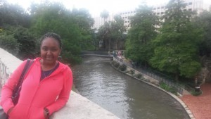 Fulbright-MTP Participant, Nhlalala Mavundza, from South Africa explores the San Antonio, Texas Riverwalk. May 25, 2015