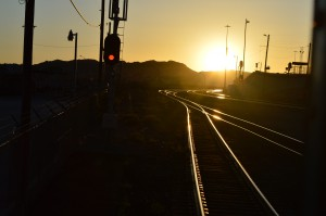 Photo of a sunset on-board the Millennial Trains Project by Fulbright-MTP Participant Magdalena Leszko, a Fulbright Foreign Student from Poland.