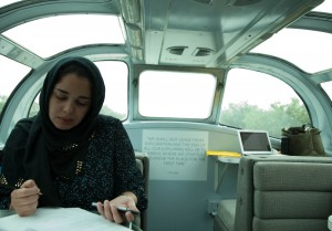 Fulbright Student from Iraq, Saja Al Quzweeni, on board the Millennial Trains Project.