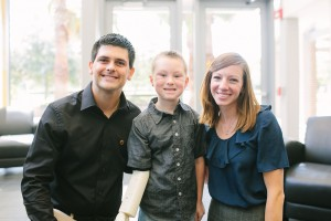 Albert and Katie Manero with Alex following a media day. Photo Credit: KT Crabb Photography