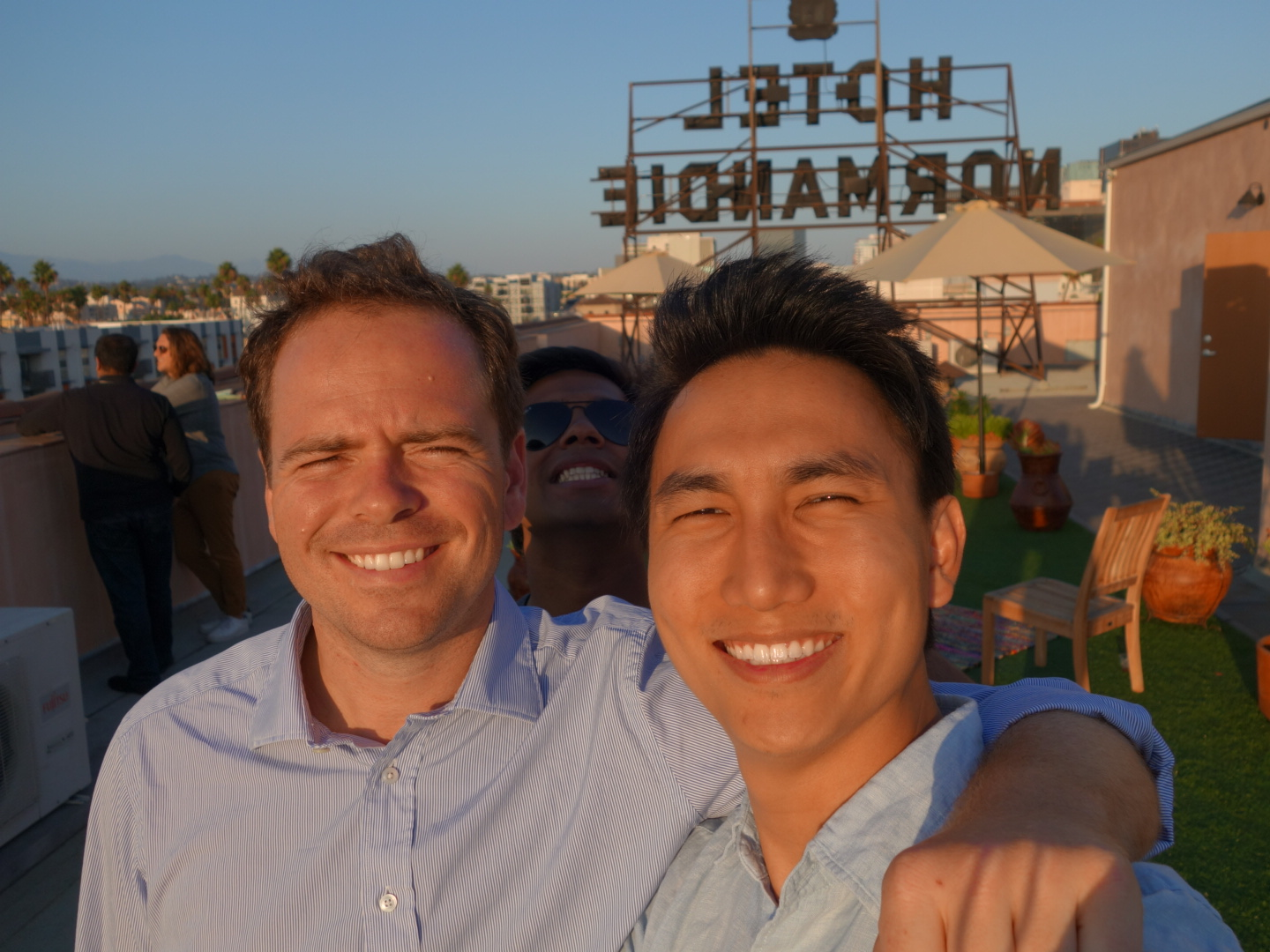 Fulbrighter Jarod Yong (right), Malaysia, with Millennial Trains Project Founder and Fulbright U.S. Student Program alumnus Patrick Dowd (left).